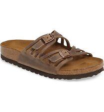 BIRKENSTOCK GRANADA-Soft Footbed-Oiled Leather in Tobacco Brown