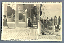 """De Venise à Bombay, à bord du """"Conte Verde"""". Pont des Sports  Vintage silver pri"""