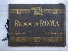 "Rome Italy Photo Album Book Sepia Vintage 32 Photos ""Ricordo Di Roma"""