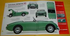 1958 Austin Healey Sprite Convertible 948cc 4 Cylinder SU Carbs Info/Specs/photo
