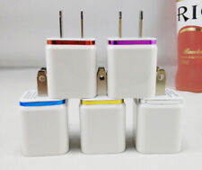 3PCS 2A Dual USB Home Wall Charger Adapter For iPad5/Air Mini iPhone XR Samsung