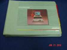 Vintage Compaq DeskPro 286 Operators Guides 1988  LQQK!