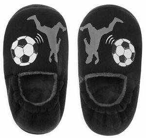 Boys Infant Kids Football Footie Slippers House Shoes Soccer Theme Novelty Gift
