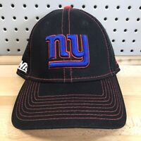 New York Giants NFL Football New Era 39THIRTY Black Flex Fitted Hat M/L EUC Cap
