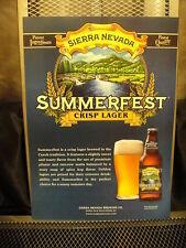 Sierra Nevada Brewing Co ~ Poster Print ~ Summerfest Crisp Lager ~ Craft Beer