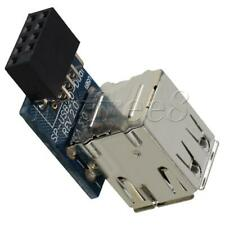 More details for usb2.0 expansion card dual layer type metal 2.0 female pin dual usb blue