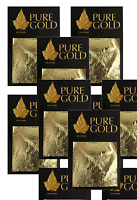 new job lot  24CT Gold Leaf 100% Genuine Scrap Gold Sheets 50 sheets