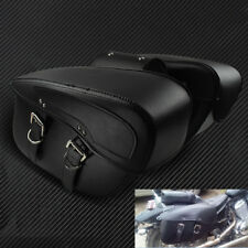 Motorcycle Saddle Bags PU Leather Luggage Tool Bags For Harley Honda Yamaha BMW