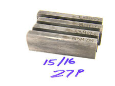 """USED LANDIS THREAD CHASERS 15/16"""" x 27 PITCH x NPSM Form (Random Lengths) HSS"""