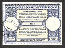 IRC INTERNATIONAL REPLY COUPON AUSTRALIA 1s 3d TYPE B7 1962