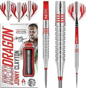 Jonny Clayton Darts 22grams Tungsten Set Red Dragon™ Pro Player Stems,Flights