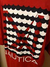 Nautica T-Shirt XXL (2XL) Red 100% Cotton