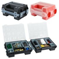 Red Or Black Tool Box Hobby Storage Case With Extendable Trays Carry Handle