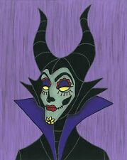 Maleficent Day of the Dead print 8X10, Comic character and Pop Art