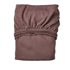 Leander Fitted Sheet for Baby Bed or Linea in 70x120 cm Warm Purple 2er Set