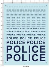 1:12 1:18 1:24 1:43 1:32 1:25 Police Markings Automotive Model Water Slide Decal