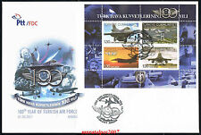 TURKEY 2011, 100TH YEAR OF TURKISH AIR FORCE ( PLANE ) FDC