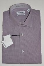 CALVIN KLEIN CK DRESS SHIRT ROSEWOOD 14.5 32/33 NWT NEW
