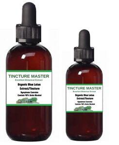 *Blue Lotus Extract Organic Tincture (4x active ingredients) Nymphaea Caerulea