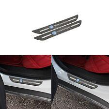 2x VOLKSWAGEN Carbon Fiber Car Rear Door Welcome Plate Sill Scuff Cover Sticker
