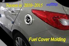 Fuel Gas Tank Door Cap Cover Chrome Molding B346 for Hyundai 2010~2015 Tucson ix