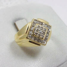 14k Solid Yellow Gold 1/2 cttw Diamond Wedding Men's Jewelry Band Ring