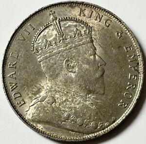 STRAITS SETTLEMENTS - Edward VII - One Dollar 1908 - Km-26 -  Ab. Uncirculated!