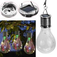 Waterproof Solar Rotatable Garden Camping Hanging LED Light Lamp Bulb
