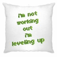 Joke Gaming Cushion Cover Not Working Out, I'm Leveling Up Gym Video Game Funny