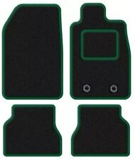 PEUGEOT 306 1993-2001 TAILORED CAR FLOOR MATS BLACK CARPET WITH GREEN TRIM