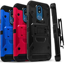 For LG Stylo 5 / 5V / 5x /5 Plus Case, Belt Clip Cover+ Tempered Glass Protector