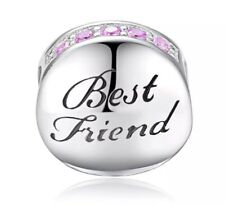 Best Friend Charm 925 Sterling Silver ideal present + free gift bag