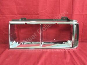 NOS OEM Oldsmobile Delta 88, Ninety Eight Headlamp Bezel 1986 Left Hand
