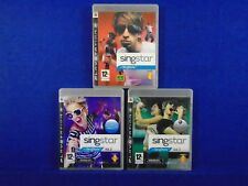 ps3 SINGSTAR Vol 1 + 2 + 3 Volume PAL UK REGION FREE