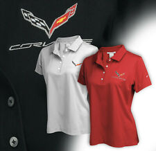 2014-2019 Corvette C7 Womens Nike Dri-FIT Polo Shirt with Logo & Script 686721