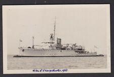 Navy British Minesweeper HMS SHARPSHOOTER 1950 RP Plain Back Card