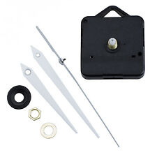 Quartz Clock Movement Mechanism DIY Repair Parts + White Hands New