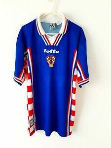 Maglia Croazia vintage world cup France 1998 BOBAN #10 Lotto Croatia rare shirt