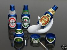 1pcs Blue Beer Bottle Style 3 PART Metal Manual Herb Spice Tobacco Grinders #144