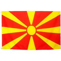 Fahne Mazedonien Querformat 90 x 150 cm mazedonische Hiss Flagge Nationalflagge