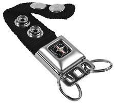 Key Chain Ring Lanyard Holder FORD MUSTANG Tri Bar Logo Black White Silver Red