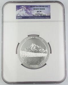 2010 P Mount Hood America the Beautiful 5 Oz Silver Coin NGC SP70 Satin Finish
