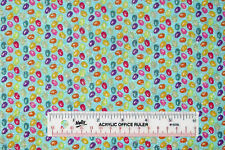 """27"""" Remnant EASTER Jelly Beans Blue Silver Glitter Toss Cotton Fabric(E) *"""