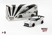 "Mini GT 1:64 Liberty Walk Works ""Sora"" Nissan GT-R R35 Type I Zero Matte White"