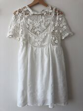 Zara Femme Tan Tricot Manches Longues Midi Robe Taille S UK 8 10