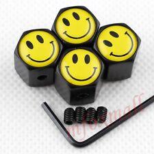 Universal Car Part Wheel Air Tyre Tire Valve Cap Cover Smile Face Logo Antitheft