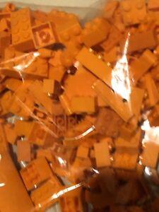 1/4 Lb Lego Lot Random Orange!  Bricks, Plates, Specialty Pieces
