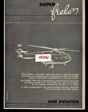 SUD AVIATION SUPER FRELON HELICOPTER 12 TONS OF CARGO OR PASSENGERS 1965 AD