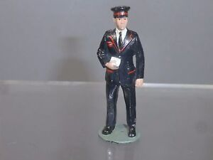 """BRITAINS STYLE  DIECAST MODEL OF A  POSTMAN / TICKET COLLECTOR """""""