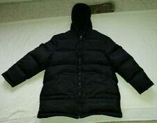 "SM2 black jacket,thick 61% DOWN,waterproof,52"",mens L XL, womens 2XL winter snow"